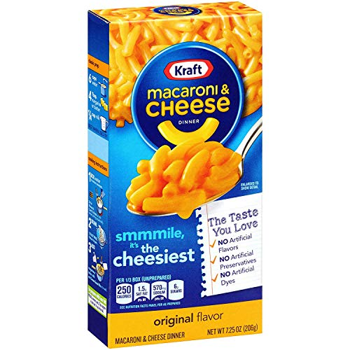 Kraft Original Macaroni & Cheese Dinner, 7.25 Oz, (Pack of 15)