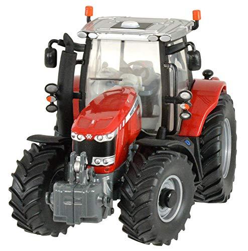 TOMY BRITAINS - Véhicule de Collection, Tracteur Massey Ferguson 6613 pour Adultes 42898, Tracteur Agricole, Modèle à l'Echelle 1/32, Réplique Adaptée aux Enfants de 3 ans+, Rouge