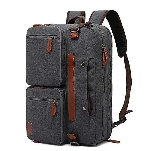 Laptop Bag Backpack 14/15.6/17 Inch Laptop Backpack Men Business Waterproof Computer Bag Casual Large Nylony Gray Anti-Theft Travel Backpack 17.3Inches Canvasgrey Free Fast Delivery