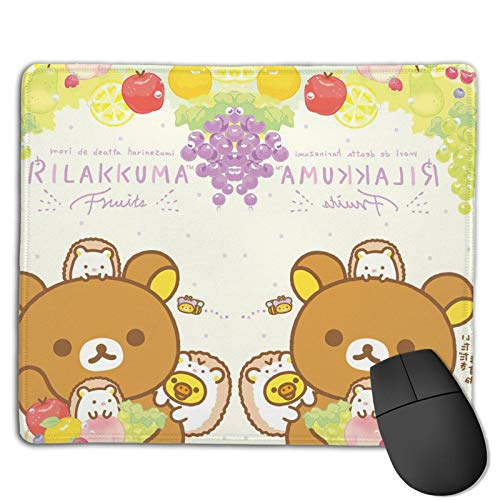 Rilakkuma- Mouse Pad with Stitched Edge, Premium-Textured Mouse Mat, Non-Slip Rubber Base Mousepad for Laptop, Computer & Pc