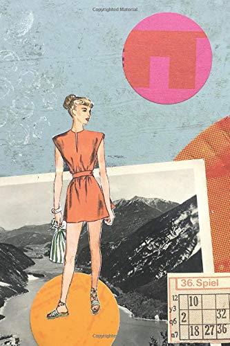 Notebook: Für Fashiongirls. Collage mit Retro-Motiv. Notizbuch, Tagebuch oder Journal mit 118 Seiten Dot-Grid (Punkteraster)