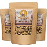 Michele's Granola Muesli, Toasted Muesli Cereal, 16 Oz Package, Pack of 3, No Refined Sugar & Non...
