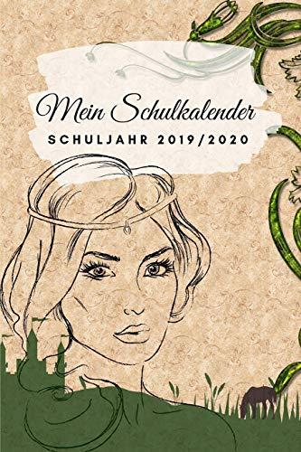 Mein Schulkalender Schuljahr 2019 - 2020: Der ultimative Prinzessinen - Kalender Schulplaner für Schüler. Einfacher Terminkalender, ... für die Schule (Aug.2019 - Sep.2020)