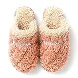 UKKO Pantofole Inverno Indoor Ladies Shoe Cotton Shoe Home Donne Peluche Slipper Lovers Slift Furry Slowes Plus Velvet Caldo Morbido Fondo Morbido Pantofole Femminili-2,35-36