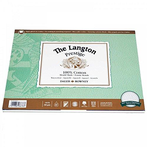 Daler-Rowney The Langton Prestige Cold Press ('Not') Watercolour Pad 10x7' (12 Sheets)