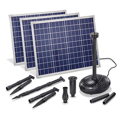 Solar Teichpumpe 150 Watt Solarmodul 5000 l/h Förderleistung 3 m Förderhöhe esotec pro Komplettset Gartenteich, 101919