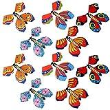 Ahagut 10 Piezas de Juguete de Mariposa de Hadas voladoras en el Libro, Tarjeta de aleteo de Mariposa de Cuerda, Mariposas de Papel voladoras, Regalo de Fiesta de Juguete (10 Piezas)