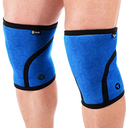 PRIM8 Knee Sleeves – 7 mm Neoprene Sleeves for Cross Training, WODs, Weightlifting, Squatting, Bodybuilding and Powerlifting
