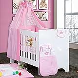 Bettset Baby Bettwäsche Himmel Nestchen Schleife mit Stickerei 100x135 Neu, Modell:Princess