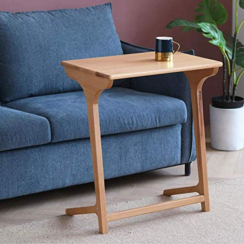 H-CAR Side Table Coffee Table End Table Coffee Table Solid Wood Side Table Modern End Table Small Sofa Tables Movable Laptop Computer Stand Bedside Table Sofa Table End Tables
