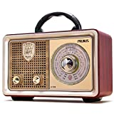 AM FM Shortwave Radio Retro Portable Transistor Radio, AC Battery Powered Radio with 3-Way Power Sources, Enhanced Bass, AUX TF Card USB Disk MP3 Player[2021 Upgraded Version]