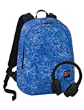 Zaino Reversibile The Double, Whiz, Blu, 29 Lt, 2in1 con Cuffie...