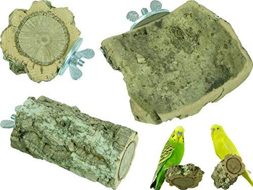 Wellensittich-Spielzeug Kleines Knabber-Kork Set