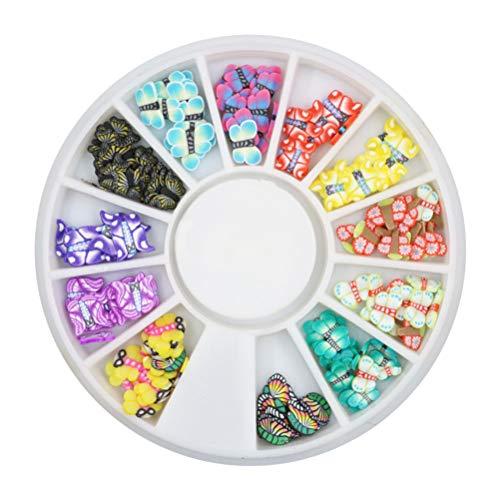 Frcolor 3D Slices Nails Art Stickers Rueda arcilla