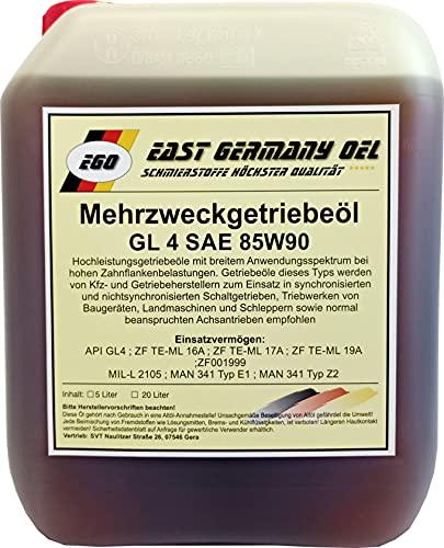 East Germany OIL Getriebeöl GL 4 85W90 Kanister 5 Liter