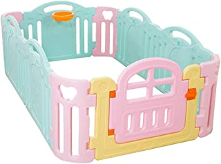 Baby Care Playpen Baby Safety Fence - Banister Kids Activity Safety Play Centre Yard Home Indoor Outdoor Pen Railing