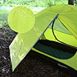 Bessport Camping Tent 1 and 2 Person Lightweight Backpacking Tent Waterproof Two Doors Easy Setup Tent for Outdoor… 7