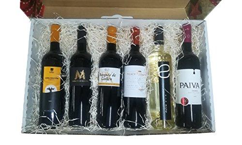 Cesta original para regalar con vinos de Ribera del Guadiana