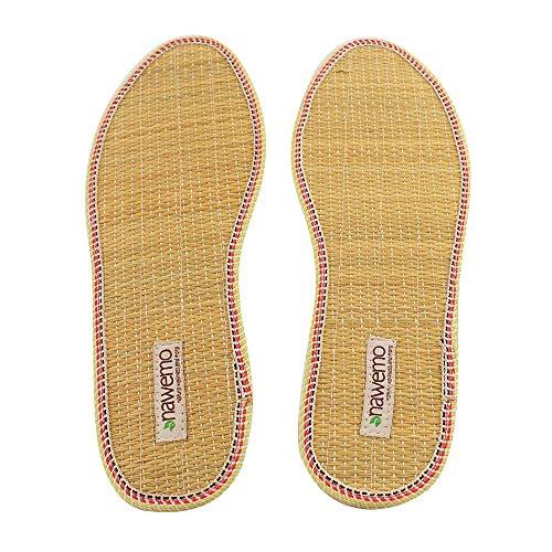 Nawemo Zimtsohlen Binse - für angenehm trockene und warme Füße - gegen Fußgeruch und Fußpilz, Größe 43 EU