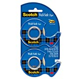 Scotch Wall-Safe Tape, Made with Post-it Technology, Trusted Favorite, 3/4 x 600 Inches, 2 Dispensered Rolls (183-DM2)