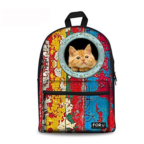 Retro Design Unisex Leinwand Schultasche Schultasche Schultasche Sporttasche Backpack Freizeitrucksack para Outdoor Camping C005 talla única