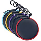 Sunmns Earphone Case Portable Storage Bag for in Ear Wireless Bluetooth/Wired Earbuds Headphones Headset, 5 Pieces