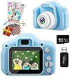 Temont Kamera Kinder für Jungen Mädchen,Digitalkamera Kinder 2 Zoll HD-Bildschirm 1080P 32 GB TF-Karte,Fotoapparat Kinder Jungen Mädchen Geschenke Spielzeug für 4 bis 9 Jahre alte Weihnachts (Blau)
