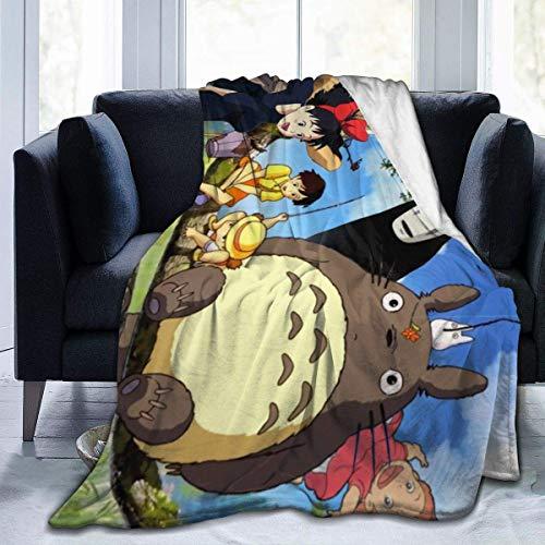 Manta de Franela Tela de Cepillo Extra Suave Súper cálida Mantas para sofás acogedora y Ligera Estudio-Ghibli-50 x40,W127cm X L102cm