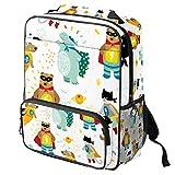 Mochila escolar para portátil con diseño de tortugas marinas coloridas y coloridas Color09 14.3x11.4x4.7 in