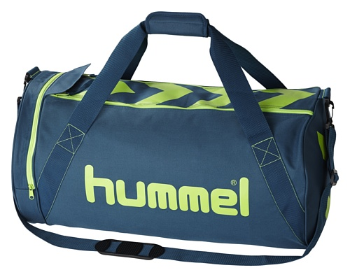 Hummel Tasche Stay Authentic Sports Bag L, legion blue/green gecko, 66 x 28 x 36 cm, 40-912-8551