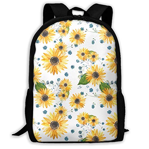shenguang Sunflower Vertical Stripe Print Custom Unique Casual Backpack School Bag Travel Daypack Gift