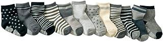 sheuiossry, Sheuiossry 12 pares de calcetines para bebés y niños pequeños, antideslizantes, antideslizantes, para niños y niñas