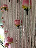 HYSENM Doorway String Curtain with Rose Flowers 39