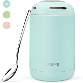 Food Jar Insulated Lunch Containers 16 Oz Stainless Steel Thermos Vacuum Bento Lunch Box for Kids Adult with Spoon Leak Proof Hot Cold Food for School Office Picnic Travel Outdoors - Blue