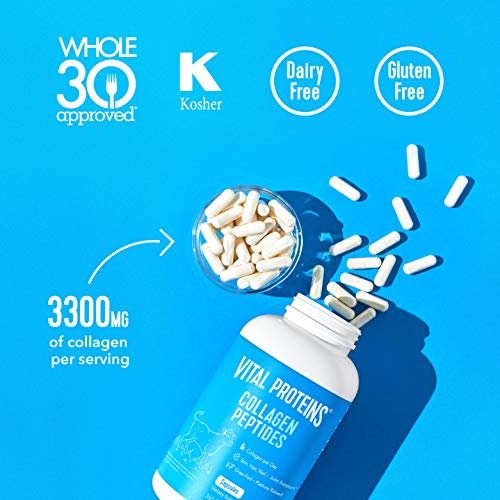 51MZUC2C0 L - Collagen Pills Supplement | 3300mg Serving with 360 Capsules | Vital Proteins Collagen Capsules - Help Support Healthy Hair, Skin, Nails, Joints