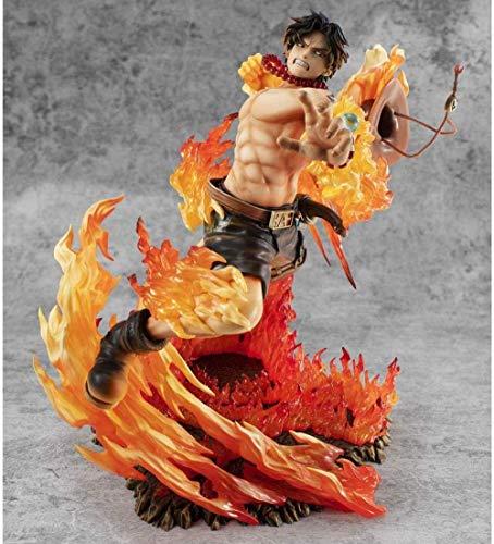 SHUMEISHOUT The New One Piece POP Fire Fist Ace MAX 15th Anniversary Special Edition Anime Figure Figura Figura Decoración Estatua Muñeca Modelo Colección Juguete Altura 25cm