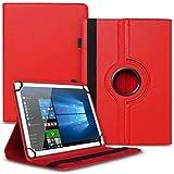 UC-Express Tablet Schutzhülle kompatibel für Archos 70 Xenon - Oxygen Tasche aus hochwertigem Kunstleder Hülle Standfunktion 360° Drehbar Cover Universal Hülle, Farben:Rot