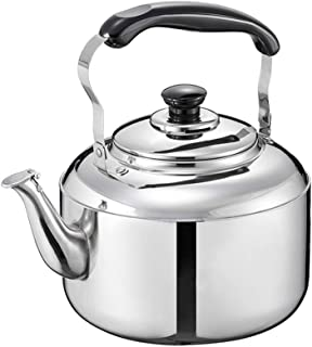 Stovetop Catering Kettle Whistle Kettle Stainless Steel 5L Large Capacity Household Universal Catering Kettle Stovetop Kettle Whistling Teapot Coffee ZHAOSHUNLI