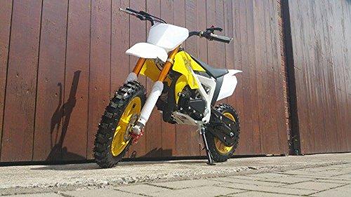 Pocketbike Crossbike Dirtbike 49cc 2 Takt RV-Racing Kinder Motorrad Gelb