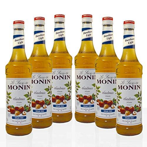 Monin Sirup Haselnuss Light, 0,7L 6er Pack