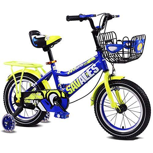 Kinderfahrrad Kinder Jungen Gilrs Fahrrad mit Stablizers 12inch Alter 3-5Y Workout-Maschine (Color : Yellow)