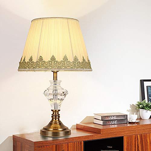Lampe De Chevet Decoration Moderne, [E27 Ampoule Inclus] Atmosphère Esthétique Lampe De Table Lecture Soin pour Les Cristal Nature Eclairage De Chambre Salle - 2 Packs