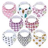 Baberos para bebé tipo bandolera para niñas - Baberos tipo pañuelo, de algodón...