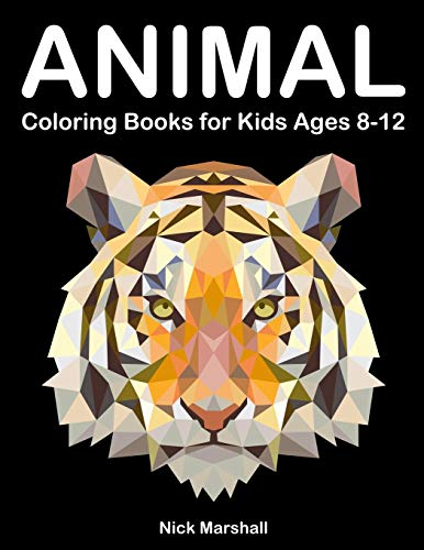 Animal Coloring Books for Kids Ages 8-12: Animetrics Coloring Books with Dolphin, Fox, Shark and Deer (Kids Coloring Book)