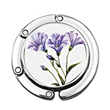 Dibujo de Flores Silvestres del Tema del Verano romántico Arte de la Madre Tierra Gancho para Monedero Personalizado Colgador de Bolso