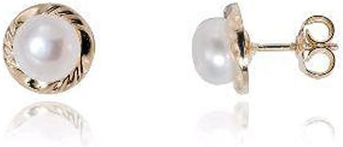 Ysora - Boucles D'oreilles à Vis Or Perle - Or jaune - 0.7 cm