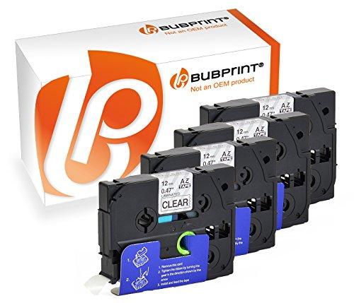 Bubprint 4 Schriftbänder kompatibel für Brother TZE-131 TZE 131 für P-Touch 1280 2430PC 2730VP 3600 9500PC 9700PC D400VP D600VP H100LB H105 P700 P750W