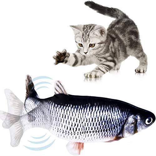DINGDING Flippity Fisch-Katzenspielzeug, Katzenminze-Spielzeug für Katzen, tanzendes Fisch-Katzenspielzeug, lustiges Kissen zum Kauen, Kick-Zubehör für Katzen/Kätzchen/Kätzchen, Flopping Fisch
