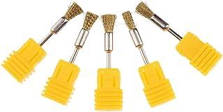 F Fityle 5本 ネイルアート 電気ドリルビットクリーニングブラシ プロ 銅ワイヤー クリーナー