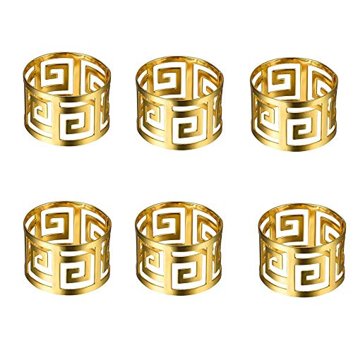 6 Pcs Napkin Rings Metal Napkin Holders Napkin Buckle Holders Napkin Rings...